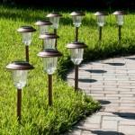 Солнечные садовые фонари